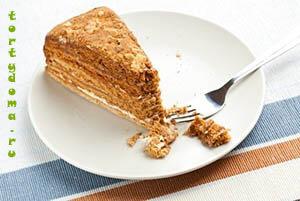 торт от палыча медовый с орехами рецепт