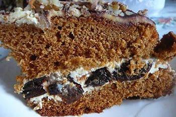 бисквитный торт медовик