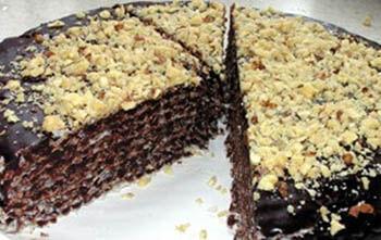 вафельный торт с шоколадом