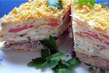 Рецепты торт наполеон с мясом