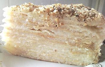 постный торт наполеон