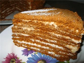 рыжик медовый торт