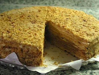 Торт медовый рецепт на сковороде