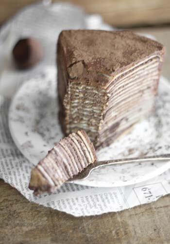 творожно−блинный торт