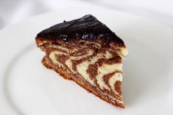 простой торт зебра