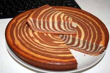 торт зебра из кефира и сметаны