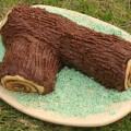 торт полено из бисквитного теста