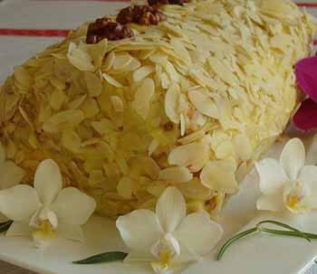 торт полено из заварного крема