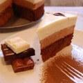 торт три шоколада приготовленный дома