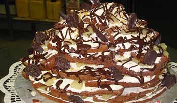 рецепт торт видео полено