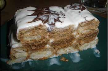 торт дамские пальчики из печенья