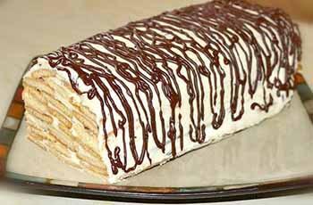 торт полено с вишней
