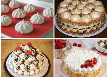 украшение тортов с безе дома