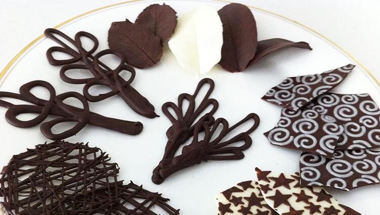 украшение из шоколада для тортов пошаговое фото