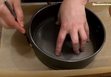 11) на бумаге для выпечки нарисуем круг