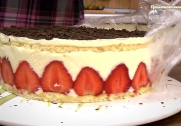 30) торт готов сверху попыпем шоколадной стружкой