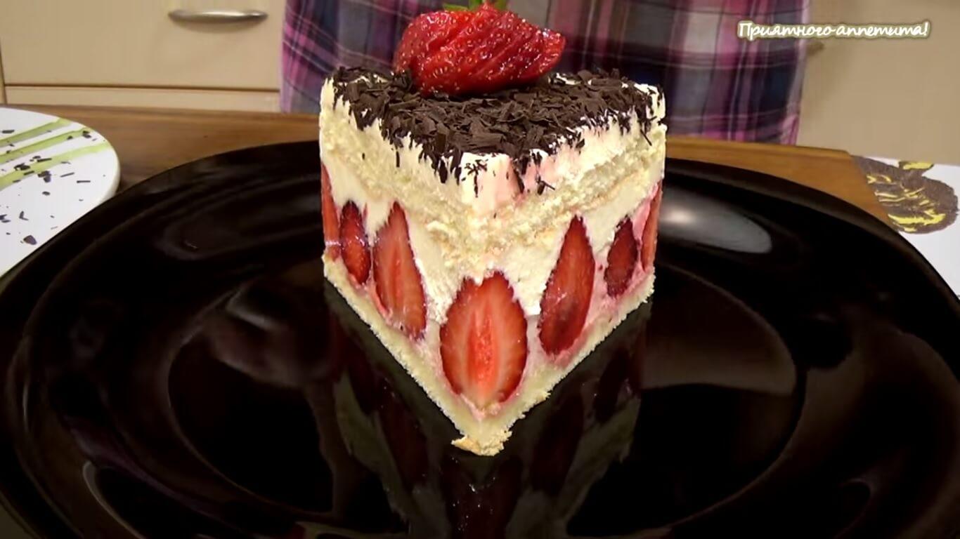 Торт фрезье рецепт с фото пошагово