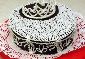 корога из айсинга для торта