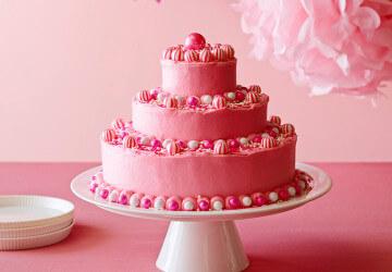 розовый торт из айсинга