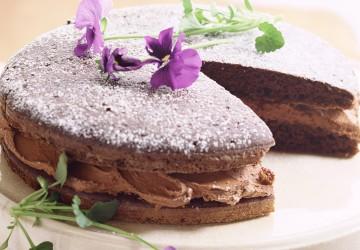 украшение торт с помощью посыпок