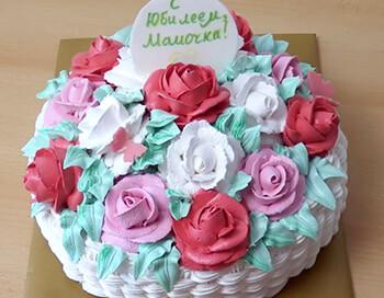 готовый торт корзинка