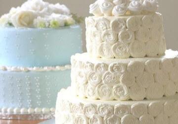 декор из крема для свадебного торта