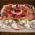 красивое оформление торта кремом