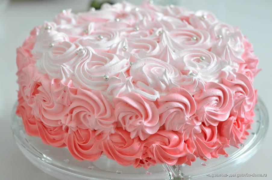 Как сделать белковый крем для украшения торта
