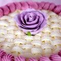 красивое украшение торта масляным кремом