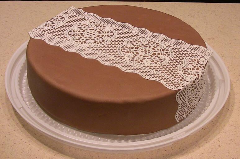 Как сделать кружева для торта в домашних условиях видео
