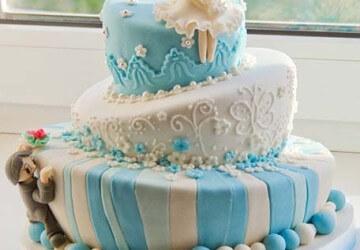 многоярусный кривой торт