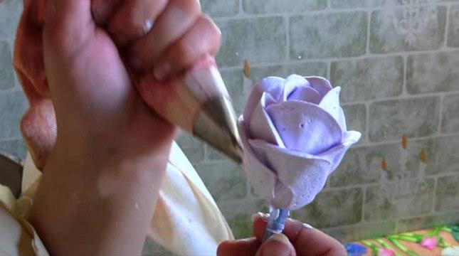 Розы из крема мастер класс фото