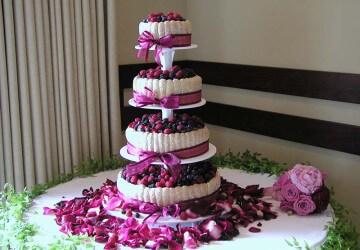 свадебный торт из фруктов