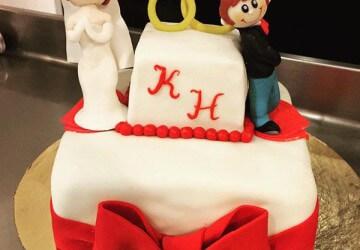свадебный торт и инициалы