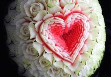 сердце из арбуза