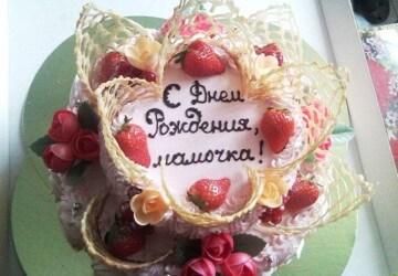 с днем рождения мамочка на торте