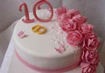 торт для 10 лет годовщины
