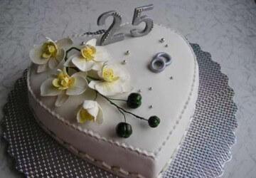 торт для 25 лет годовщины