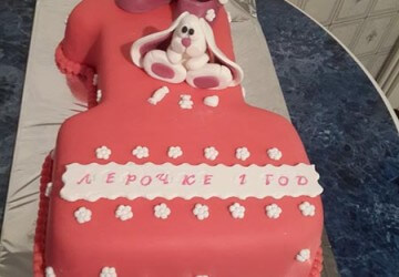 торт единичка в готовом виде