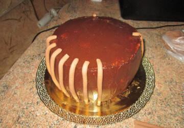торт корзинка из мастики шаг 3