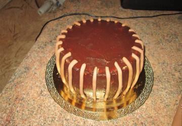 торт корзинка из мастики шаг 4