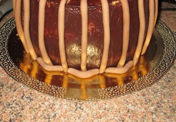 торт корзинка из мастики шаг 6