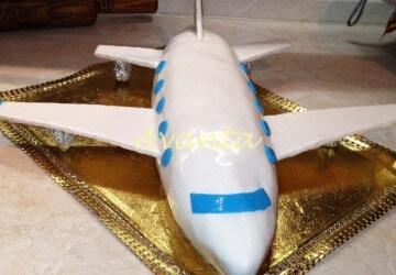 торт самолет идеи3