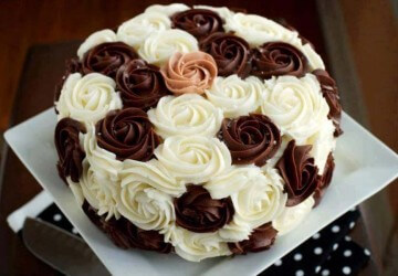 торт украшенный масляным кремом