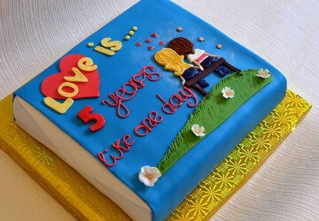 торт 5 лет годовщины свадьбы