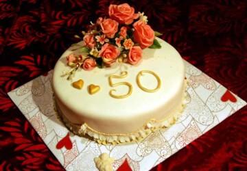 торт 50 лет годовщины свадьбы