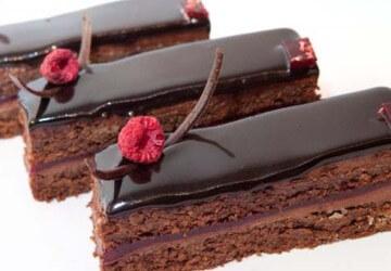 Украшение торта шоколадной глазурью