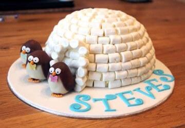 украшение торта конфетами7