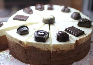 украшение торта конфетами8