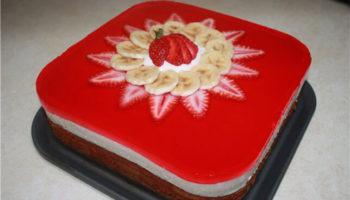 украшение торта с желе